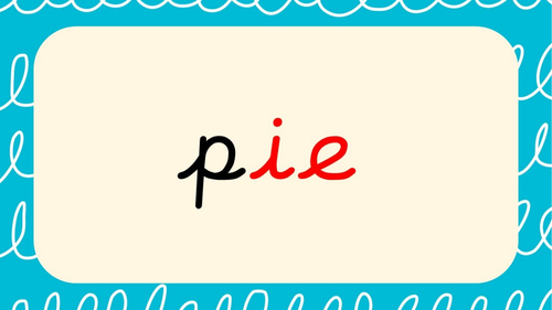 Phase 5 - 'ie' words Quick Read Powerpoint