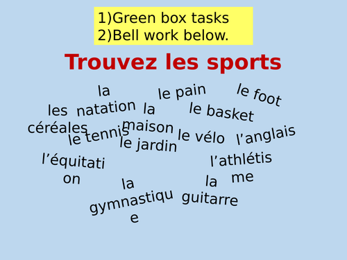 Year 8 - Temps Libre - Leisure - Free Time  - Expo 2 Module 2