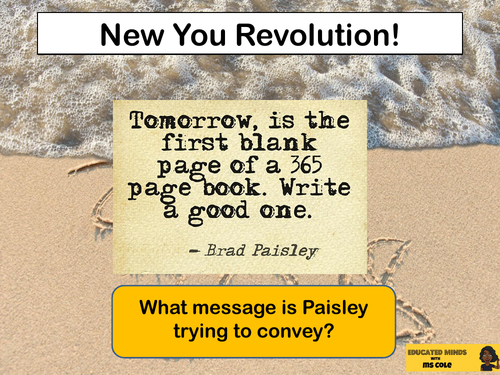 PSHE: New You Revolution