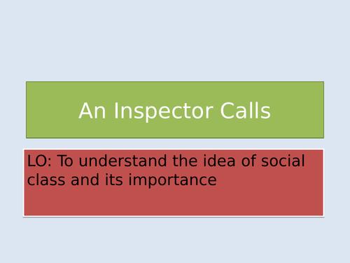 An INspector Calls: introduction to social class