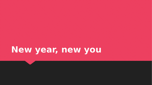 New yaer, new you
