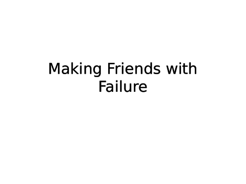 How to work with failure