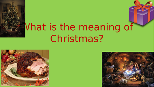 Assembly on the meaning of Christmas