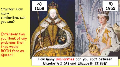 2) What challenges did Elizabeth face - GCSE Edexcel Early Elizabethan England