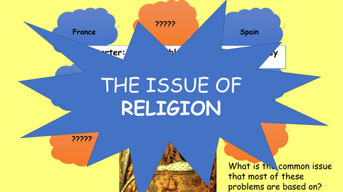 3) How did Elizabeth attempt to deal with the issue of religion?