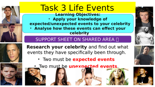 Expected and Unexpected life events