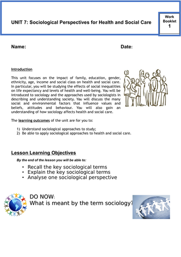Sociological Perspectives in Health and Social Care