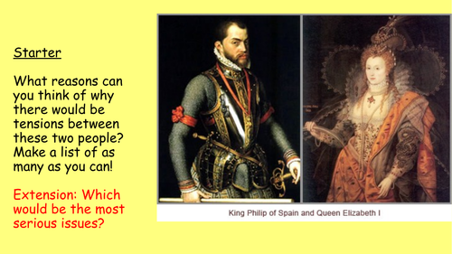 8) Declining relations with Spain - GCSE Edexcel Early Elizabethan England