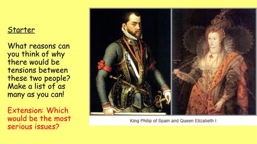 8) Declining relations with Spain - GCSE Edexcel Early Elizabethan England