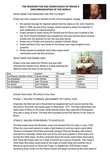 13) Elizabethan Exploration and Drake - GCSE Edexcel Early Elizabethan England