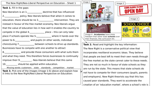 AQA A Level - Sociology - The New Right Perspective on Education