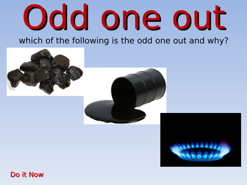 KS3- ENERGY unit - L1 fossil fuels - fully resourced