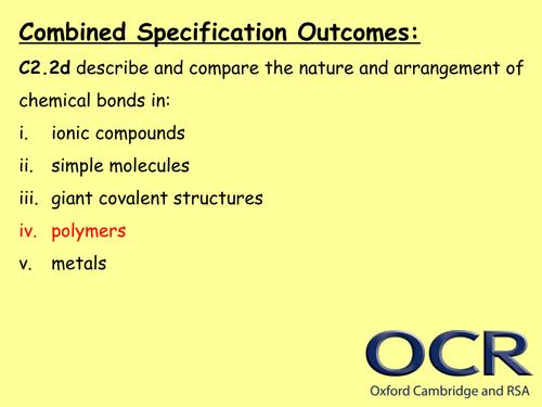GCSE OCR Gateway C2 Chemistry - Polymers