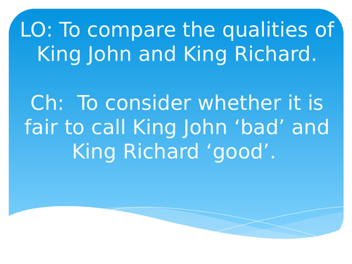 Comparing King Richard and King John