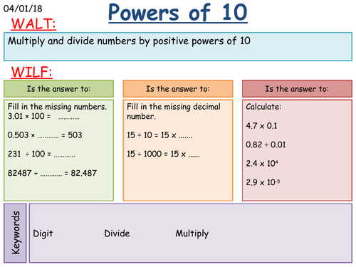 KS3 Maths: Multiplying and Dividing by Powers of 10
