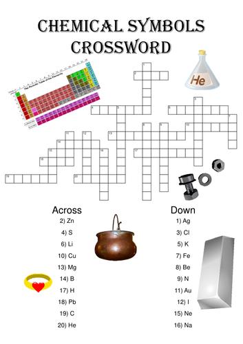 Chemistry Crossword Puzzle: Chemical Symbols
