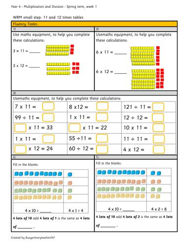 Year 4 multiplication (C-P-A)- Australian Curriculum linked