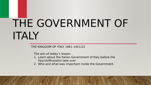 Government of Italy, 1861-1921/1922