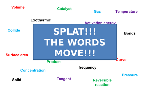 Rates of Reaction | Moving Splat!!! | Game | Revision
