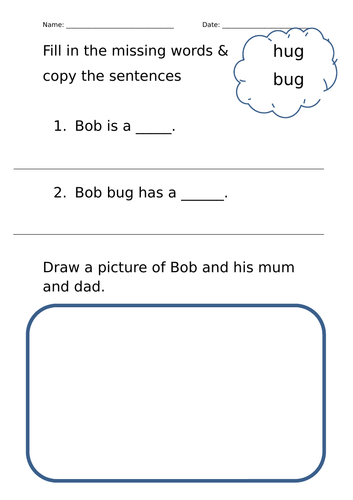 Songbirds Level 1 Comprehension Worksheets