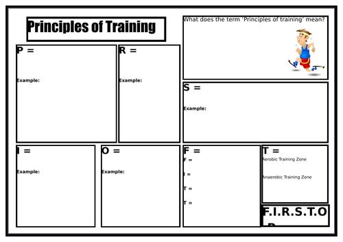 gcse pe principles of training worksheet by burnsinwigan teaching resources tes. Black Bedroom Furniture Sets. Home Design Ideas