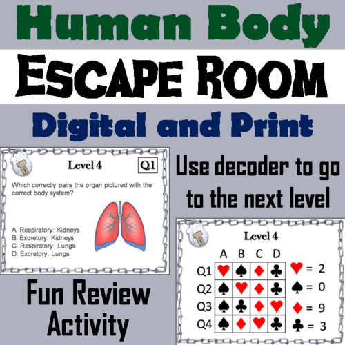 Human Body Systems: Science Escape Room