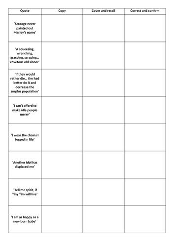 a christmas carol quotations and themes by lizziedc92 teaching resources tes - Christmas Carol Quotes