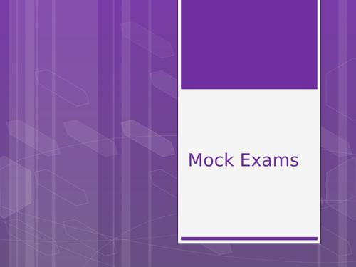 Mock Exam Assembly