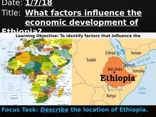 OCR A GCSE 9-1 Geography: Ethiopia's Economic Development Full Case Study