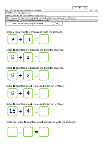 Y2 planning and resources for White Rose Maths Spring Block  1 Multiplication and Division week 1