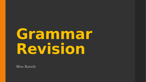 Reading comprehension and grammar revision