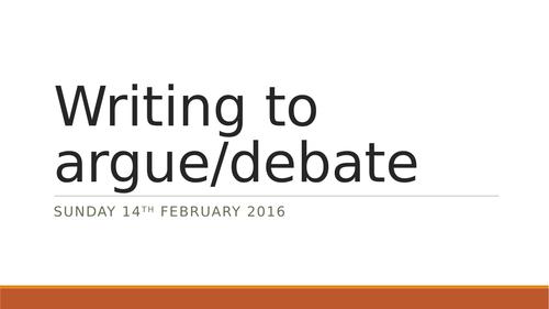 Writing to argue/debate