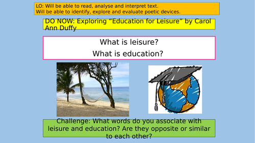 Analysing Education for Leisure by Duffy