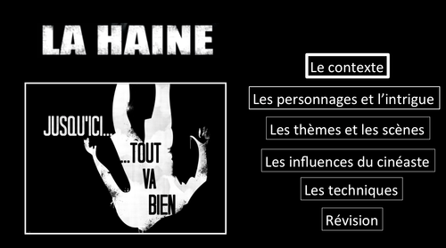 La Haine- Le contexte- Movie Study/ Etude du film- A Level French
