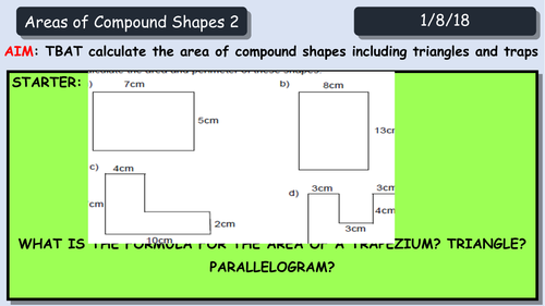 Compound Shapes Areas