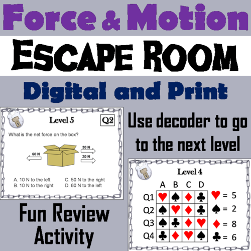Force and Motion Escape Room
