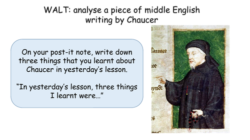 Chaucer general prologue opening lesson