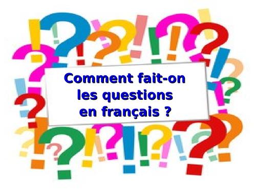Comment poser une question en français ?