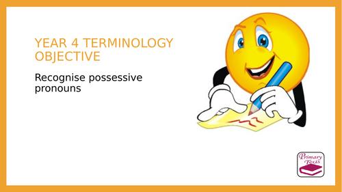 Year 4 SPAG PPT: Possessive Pronouns