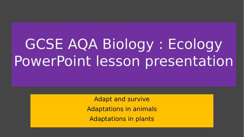 AQA GCSE Adaptations in plants and animals