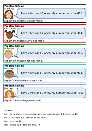 Represent numbers to 50, Spring Block 2, Year 1, Place Value