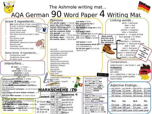 gcse aqa new spec german writing mat 90 word by grisedaw teaching resources. Black Bedroom Furniture Sets. Home Design Ideas
