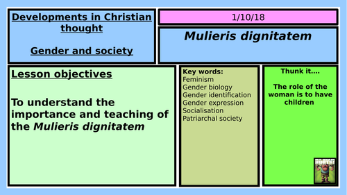 NEW OCR RELIGIOUS STUDIES A LEVEL: GENDER AND SOCIETY LESSON 3