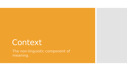 Context: embodied knowledge, schema, co-text