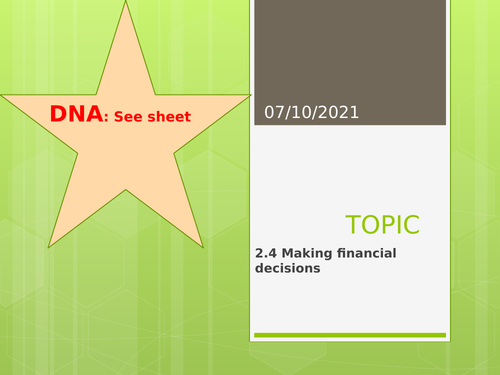 Edexcel GCSE (9-1) Business Topic 2.4 Making financial decisions: Understanding business performance