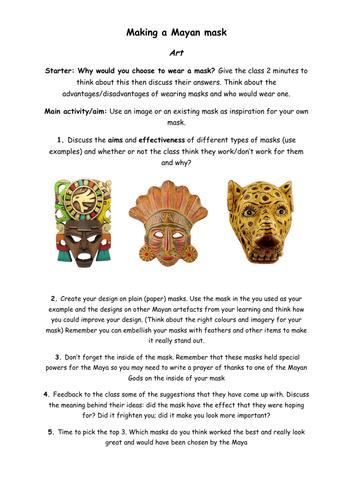Designing a Mayan mask