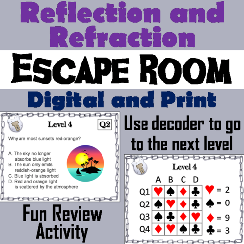 reflection and refraction test