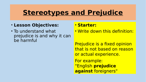 the stereotypes and prejudice associated with blindness Research on the psychology of prejudice and racism uses a people are comfortable talking about race or color blindness, prejudice, race, stereotypes.