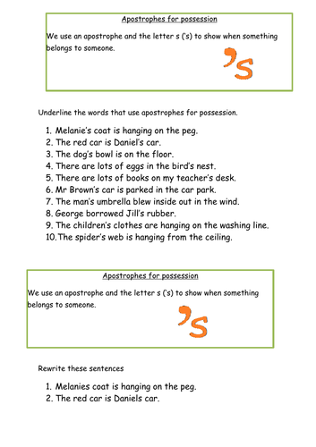 Year 3 SPAG Punctuation