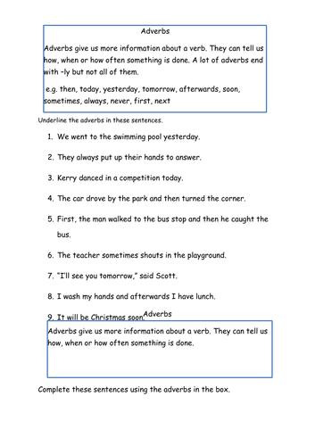 Year 3 SPAG Grammar